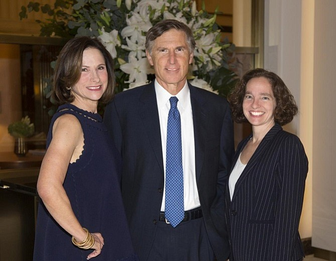 Martha and Bruce Karsh with Risa Goluboff, dean of the University of Virginia School of Law