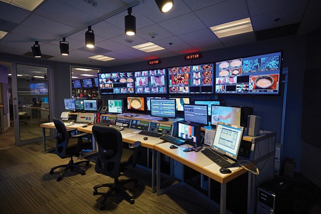 High-Tech Tenant: Switch subleases this control room inside KCET's headquarters.