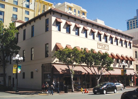 Older office buildings are hot, especially in downtown San Diego where they are attracting more interest than some of the newer office towers. The Brunswig Building is a genuine historicbuilding that was converted to creative office in the 1980s. Pictures show the exterior and interior of the building. Photos courtesy of Colliers International