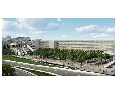 Rendering of new Disneyland parking structure