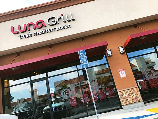 The Luna Grill restaurant in Mira Mesa is one of the 15 locations in San Diego.