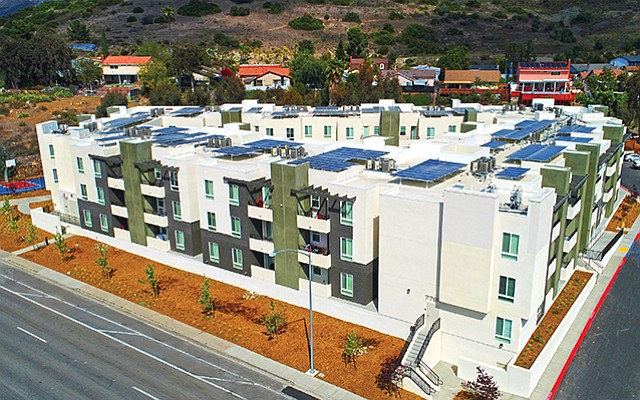 "Mesa Verde apartments recently opened in Mission Gorge. ""This is a redevelopment model that can be replicated in parts of San Diego where higher density is appropriate,"" said Chelsea Investment Corp. CEO Jim Schmid. Photo courtesy of Chelsea Investment Corp"