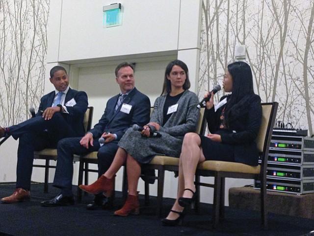 Biotech Boosters: Panelist Yiwen Li,  far right, of NantHealth.