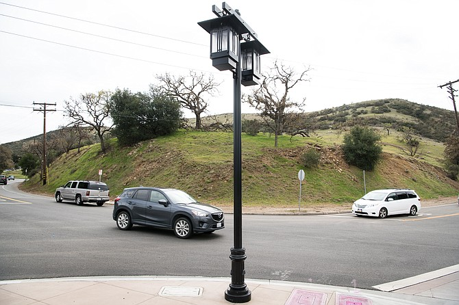 Site of proposed Cornerstone development at the intersection of Cornell and Agoura roads in Agoura Hills.