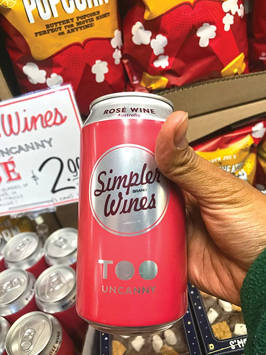 Canned wine at a Trader Joe's. The market share of wine in a can is growing.