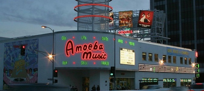 Amoeba's location at 6400 Sunset Blvd