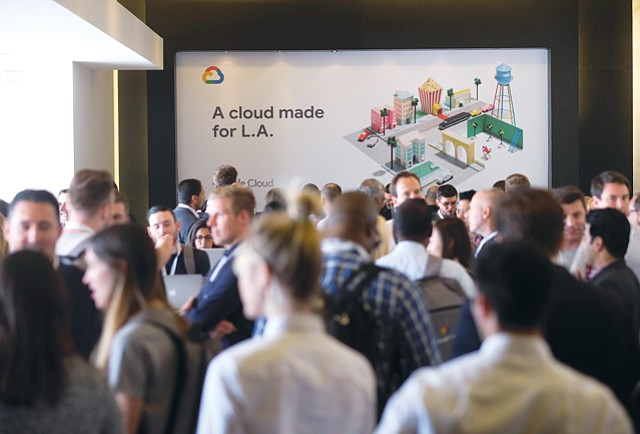 Clouded Gathering: Google celebrated a new L.A. data center June 26 at Milk Studios in Hollywood.