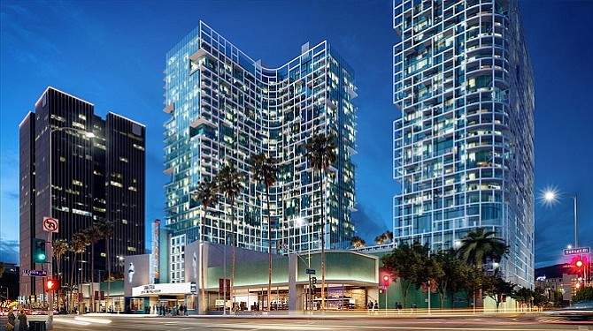 Rendering of the Palladium Residences in Hollywood