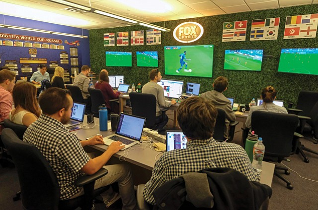 Social Center: Fox Sports Digital staffers crafted 10-second World Cup highlights for Snap, slide shows for Twitter.