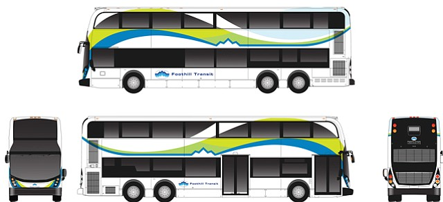 Rendering: Double-decker vehicle bound for eastern L.A. County.