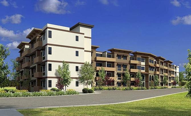 Rendering of Sun Valley Senior Veterans Apartments at 9041 N. Laurel Canyon Blvd.