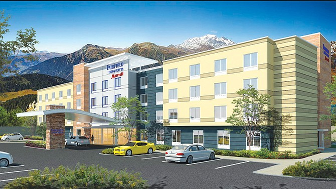 Rendering of Marriott Fairfield Inn in Moorpark.