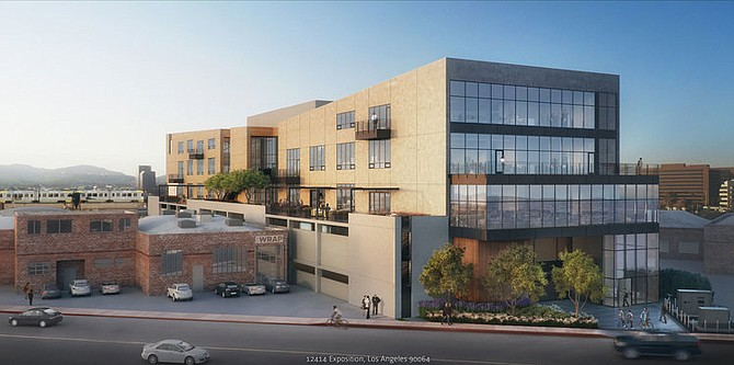 Rendering of the Lawrence J. Ellison Institute for Transformative Medicine in West L.A.,,developed by the Luzzatto Co.