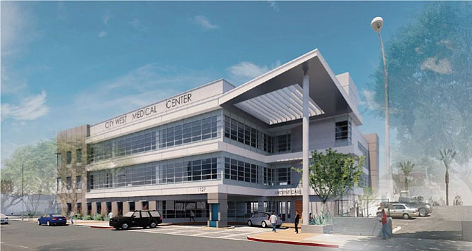 Rendering: City West Medical Center at 1127 W. Washington Blvd.