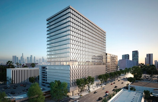 L A  County Closes $302 3M Financing for 13-story Building in