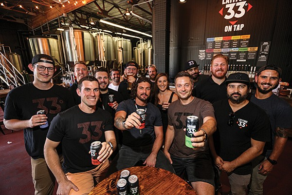 Despite being in the most saturated craft brewing market in the country, Latitude 33 Brewing Co. has grown almost 400 percent from 2015 to 2017. Its operations are based in Vista.