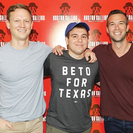 Pod Save America founders Tommy Vietor, Jon Lovett and Jon Favreau