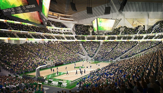 Rendering of the KeyArena in Seattle