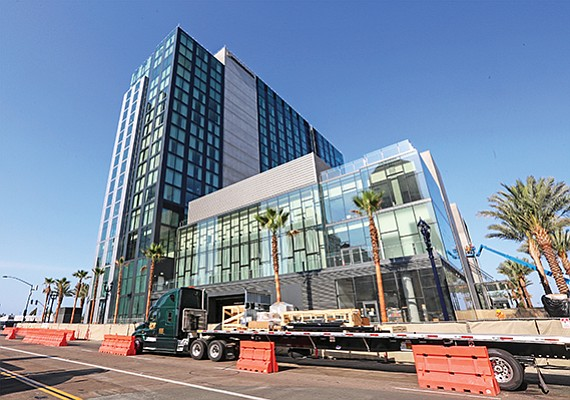 The 400-room InterContinental in downtown San Diego is slated to open late August. It is one of 21 hotels under construction and expected to open between 2018 and 2020 in the county.
