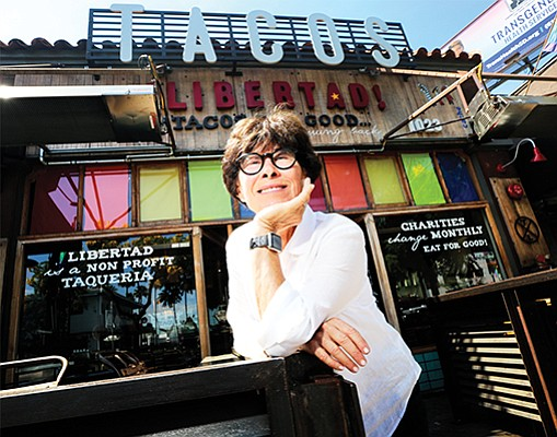 Lesley Cohn, co-owner of Cohn Restaurant Group Inc., at one of her restaurants, Tacos Libertad, in San Diego.
