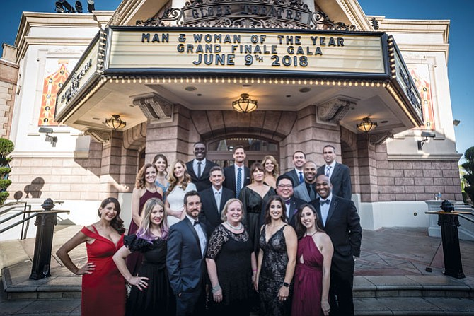 2018 Man & Woman of the Year Candidates in front of Globe Theater.