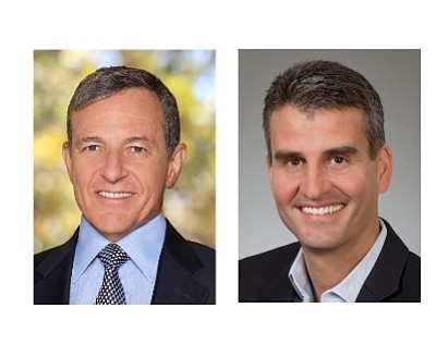 Disney Co. Chairman and Chief Executive Bob Iger and Disneyland Resort President Josh D'Amaro