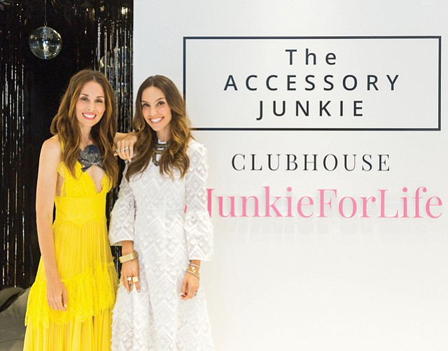 Accessorized: Michelle Reeves and Ursula Lyon of Accessory Junkie at the company's Malibu pop-up opening.