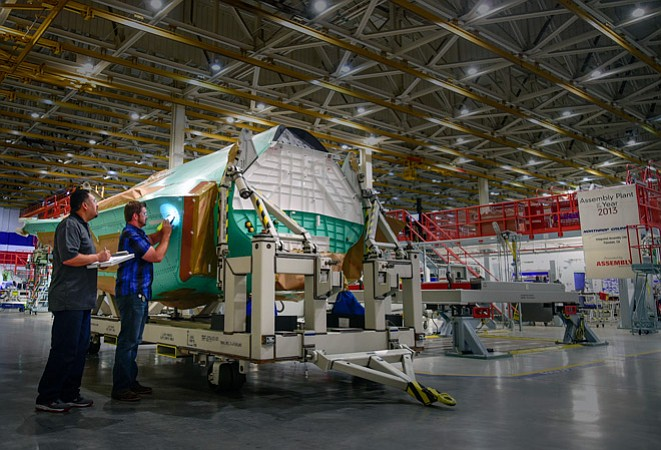 Assembled F-35 Lightning II in Northrop Grumman's Palmdale plant.