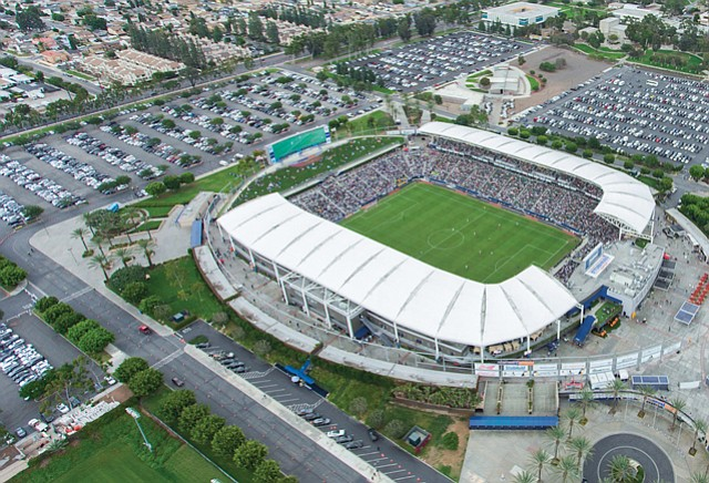 StubHub Center: Football tenant sold naming rights for game days to local brand.