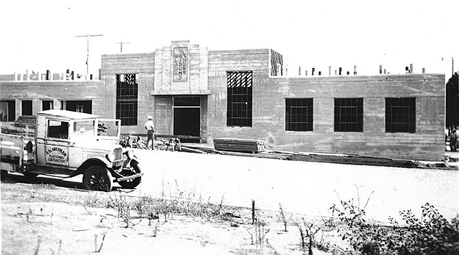 The Blade-Tribune building under construction circa 1936. Photo courtesy of the Oceanside Historical Society