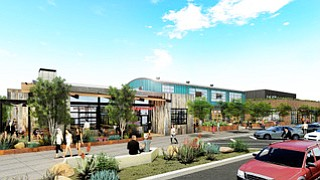 Rendering shows Solana 101 mixed use project of Zephyr Partners. Rendering courtesy of Zephyr Partners