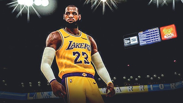 Early Imagery: Lakers entry in e-sports league set to start play next year, already hyping a virtual LeBron James.