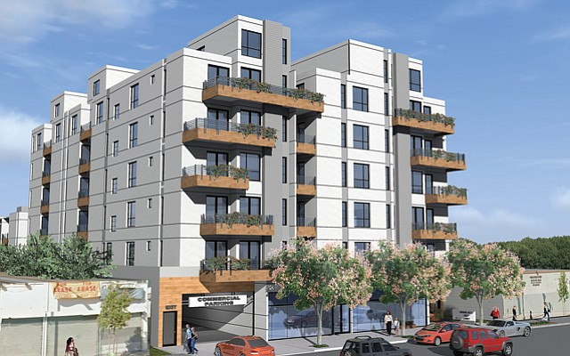 Rendering: 51-unit K-Town multifamily project.