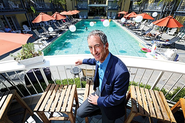 Robert Rauch, founder of RAR Hospitality, says he spends 50 percent of his work time visiting hotels he owns and/or manages, including the Lafayette Hotel in North Park.