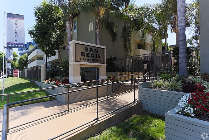San Regis Apartments at 15454 Sherman Way in Van Nuys.