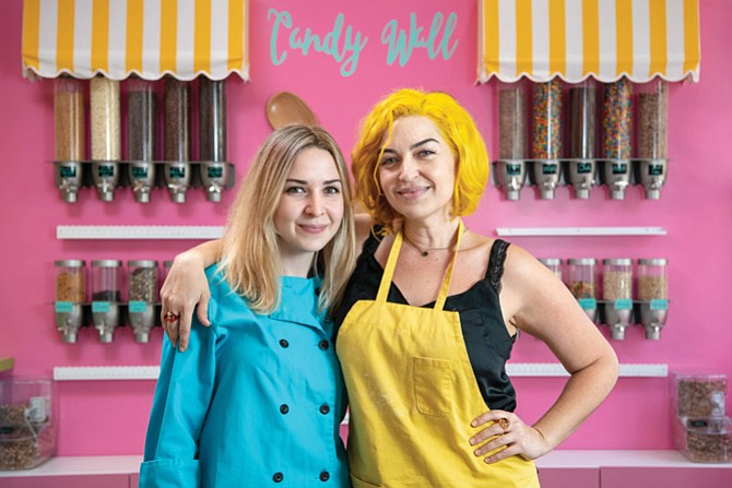 Cara Friedman, left, and Danielle Friedman at Cookie Dough Dreams in Burbank.