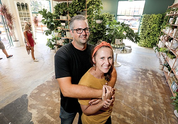 Chad Anglin and his wife, Amy Paul, recently opened a second Pigment store at Point Loma's Liberty Station, selling locally made artisanal products, jewelry, plants and furniture. Their flagship store is in North Park.