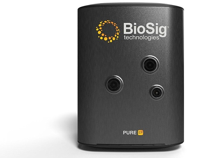 BioSig's Pure EP System records and displays cardiac signals.