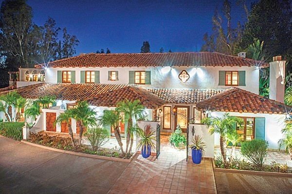An equestrian estate at 5026 Linea Del Cielo in Rancho Santa Fe is listed for $4.425 million. Photo courtesy of Compass