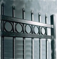 Eighty percent of A Garage Door's business is making gates and fences, much like the one pictured. Photo courtesy of A Garage Door