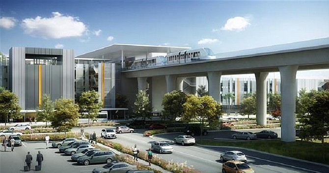 Rendering of LAX's consolidated car rental facility