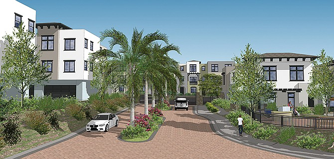 Skyline is a mixed use development going up in San Marcos. Rendering courtesy of Integral Communities