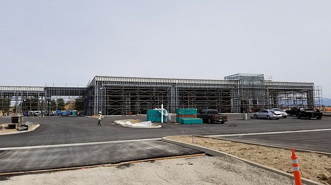 HW Hunter Ram of the West Truck Center in Lancaster during construction.