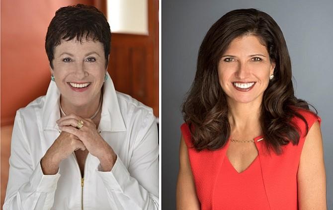 Carol Schatz, left, Suzanne Holley, right
