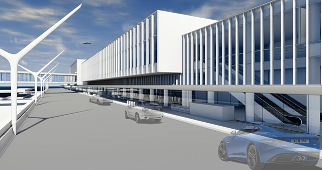 Rendering: American Airlines LAX terminals 4 and 5 undergo a $1.6 billion renovation beginning in October.