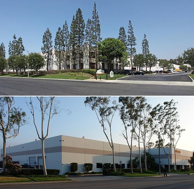 Evox Productions, at 2363 E. Pacifica Place in Rancho Dominguez, top, Giovanni Cosmetics Inc., 2064 E. University Drive in Compton, below.
