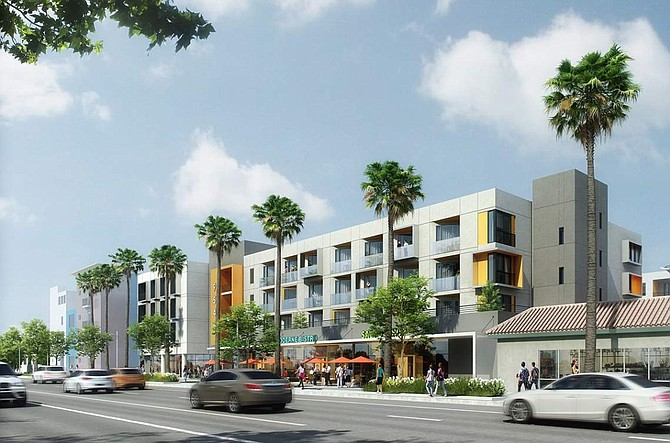 Rendering of housing project at 9530-9546 N. Reseda Blvd. in Northridge.