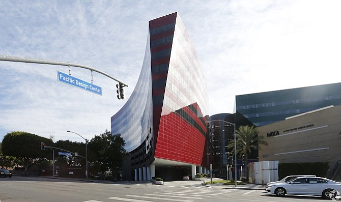 Pacific Design Center's Red Building at 750 N. San Vicente Blvd.