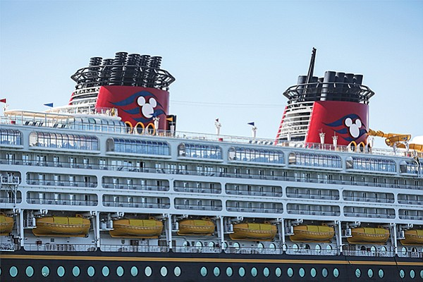 Disney's Wonder cruise ship docked in the San Diego harbor in September. Overall, the economic impact of the cruise industry on the region has grown from $82 million in 2014 to a projected $131 million in 2018.