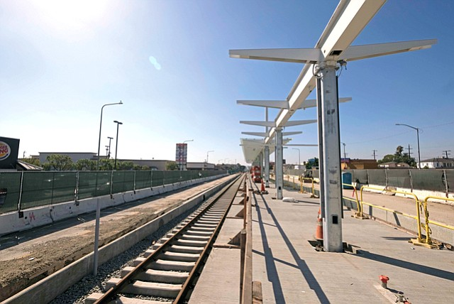 On Its Way: Construction along the evolving Crenshaw-LAX Line.
